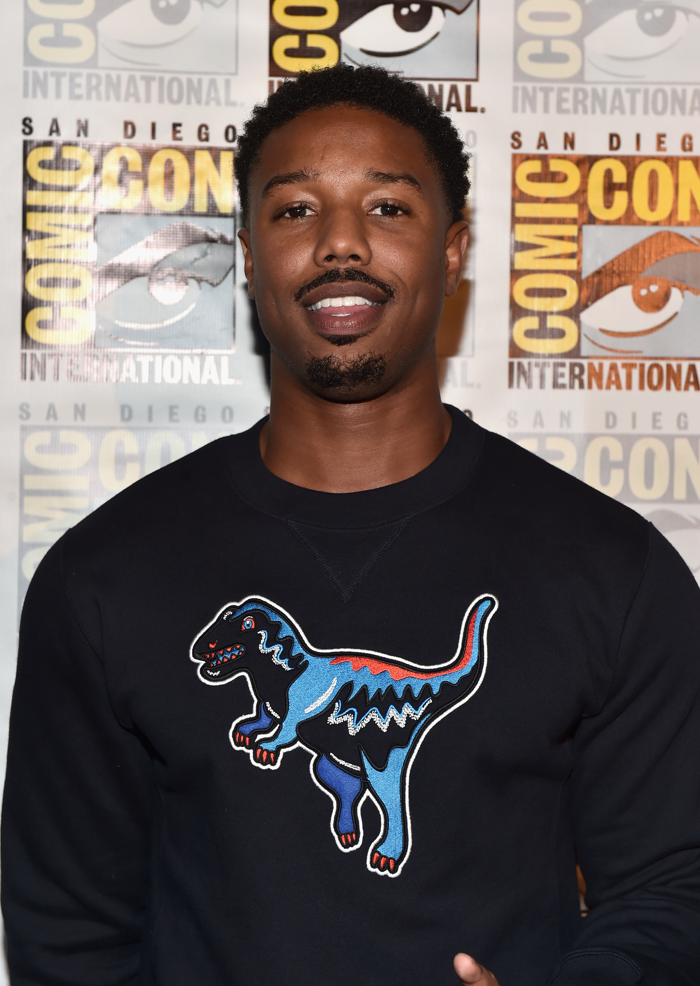 """SAN DIEGO, CA - JULY 23:  Actor Michael B. Jordan from Marvel Studios' 'Black Panther"""" attends the San Diego Comic-Con International 2016 Marvel Panel in Hall H on July 23, 2016 in San Diego, California. ©Marvel Studios 2016  (Photo by Alberto E. Rodriguez/Getty Images for Disney)"""