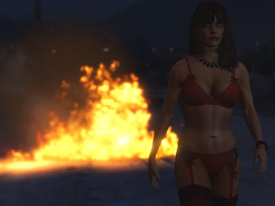 """Kanye West's """"Flashing Lights"""" Video Gets a 'Grand Theft Auto V' Makeover"""