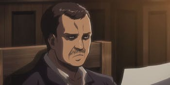 Rod Reiss as he appears in the 'Attack on Titan' anime.