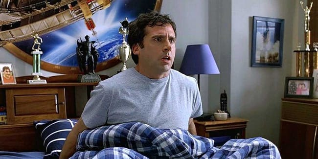 40 Year Old Virgin film still sexual frustration psychology physical explanations