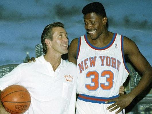 Pat Riley and Patrick Ewing