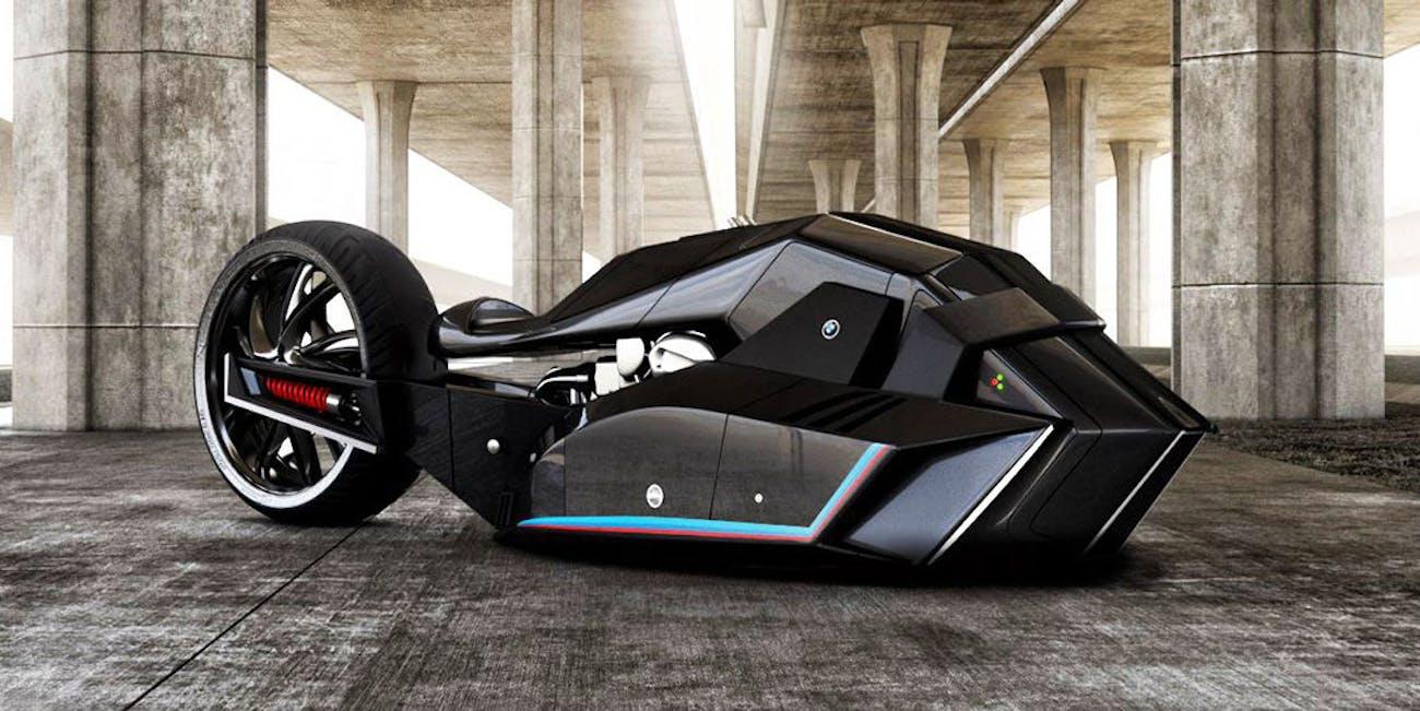 Bmw S New Motorcycle Concept Is Half Shark Batmobile