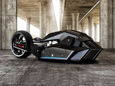BMW's New Motorcycle Concept Is Half Shark, Half Batmobile
