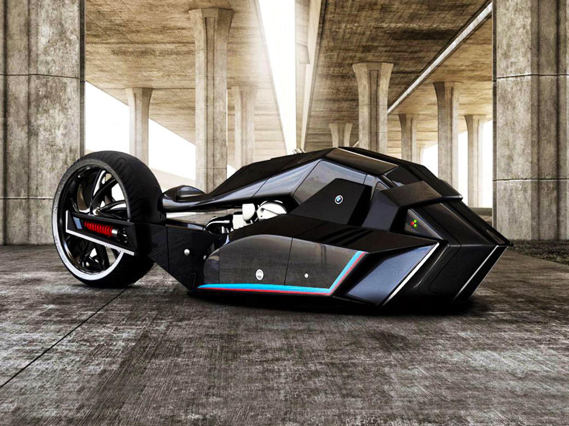 BMW's New Motorcycle Concept Is Half Shark, Half Batmobile