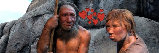 There is new evidence that neanderthals kissed.