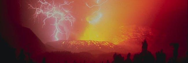 1982 eruption Galungung
