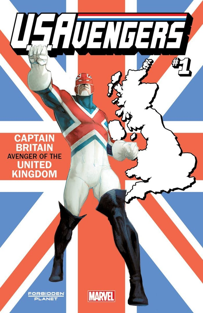 Captain Britain Variant Cover for Marvel Comics U.S. Avengers #1