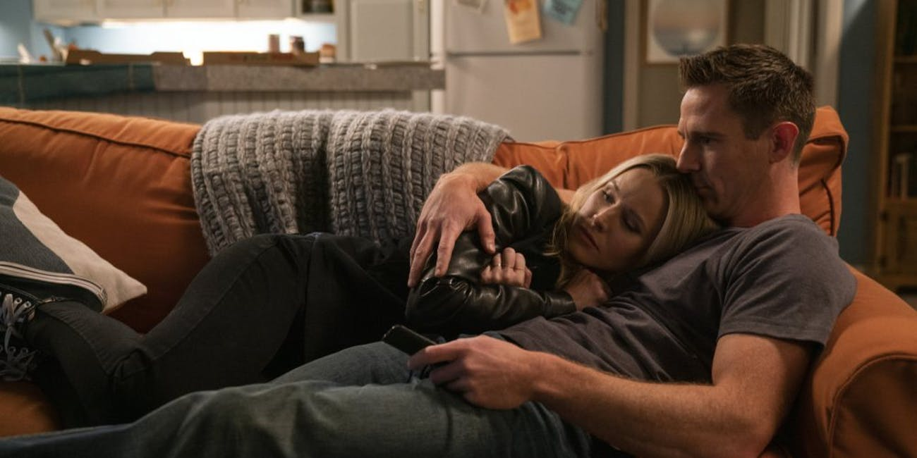 Kristen Bell and Jason Dohring on Veronica Mars Season 4