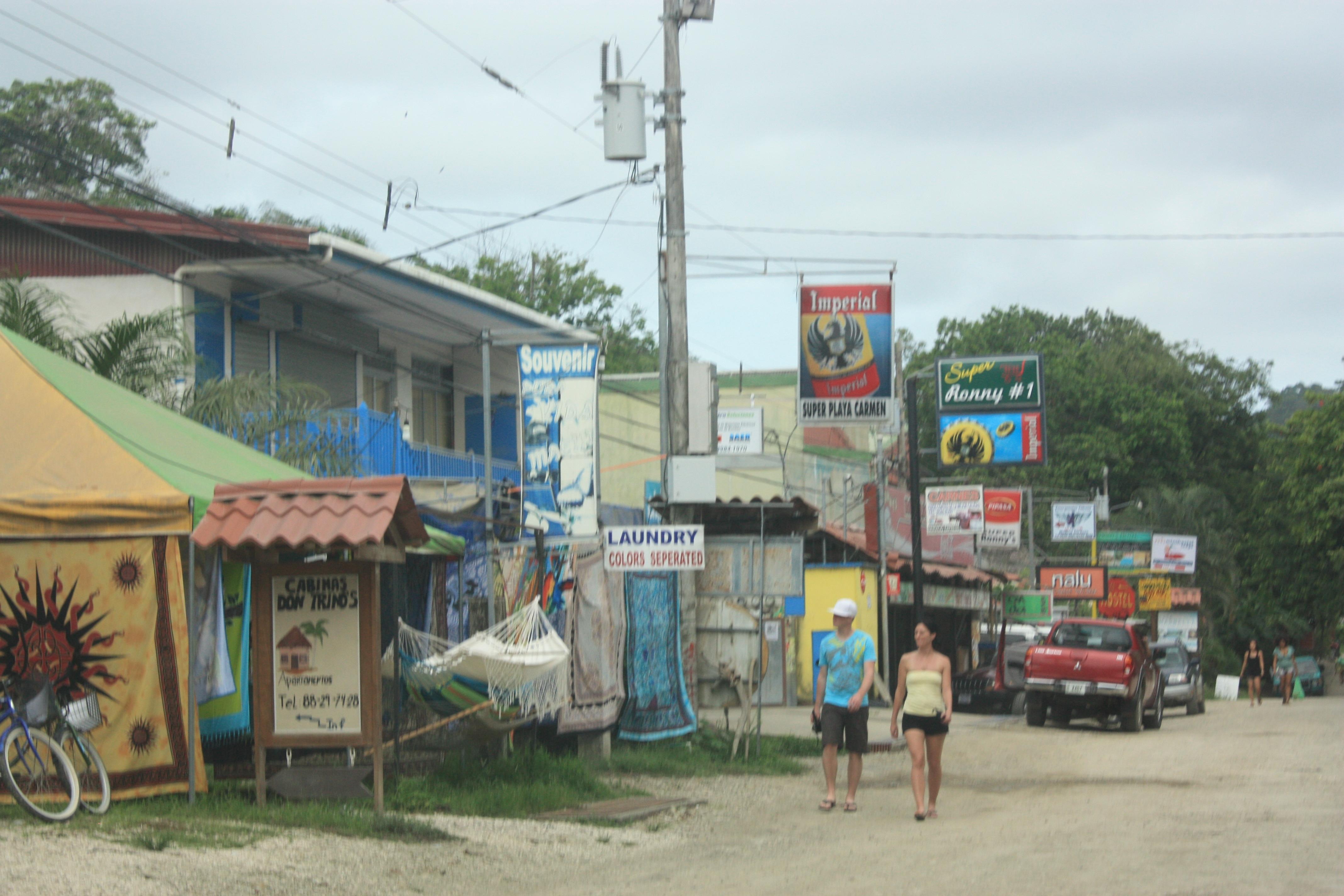 Beach town of Santa Teresa in the southern Puntarenas province