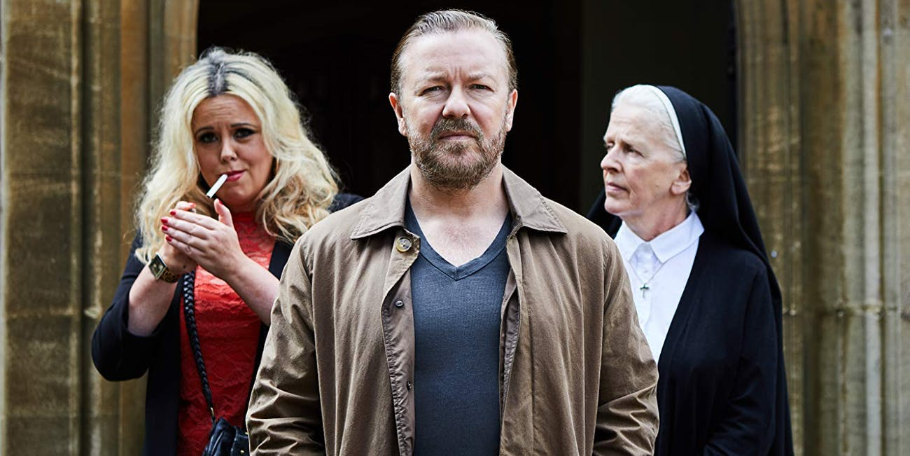 Ricky Gervais in 'After Life' on Netflix