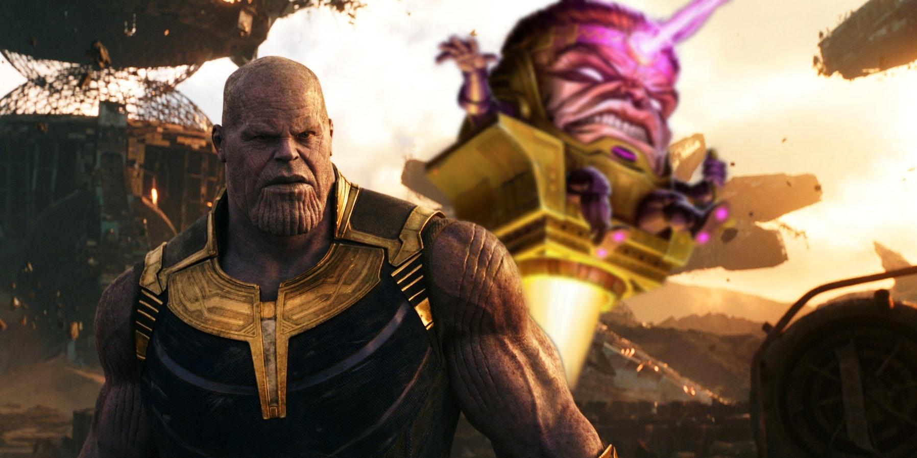 Thanos and M.O.D.O.K.