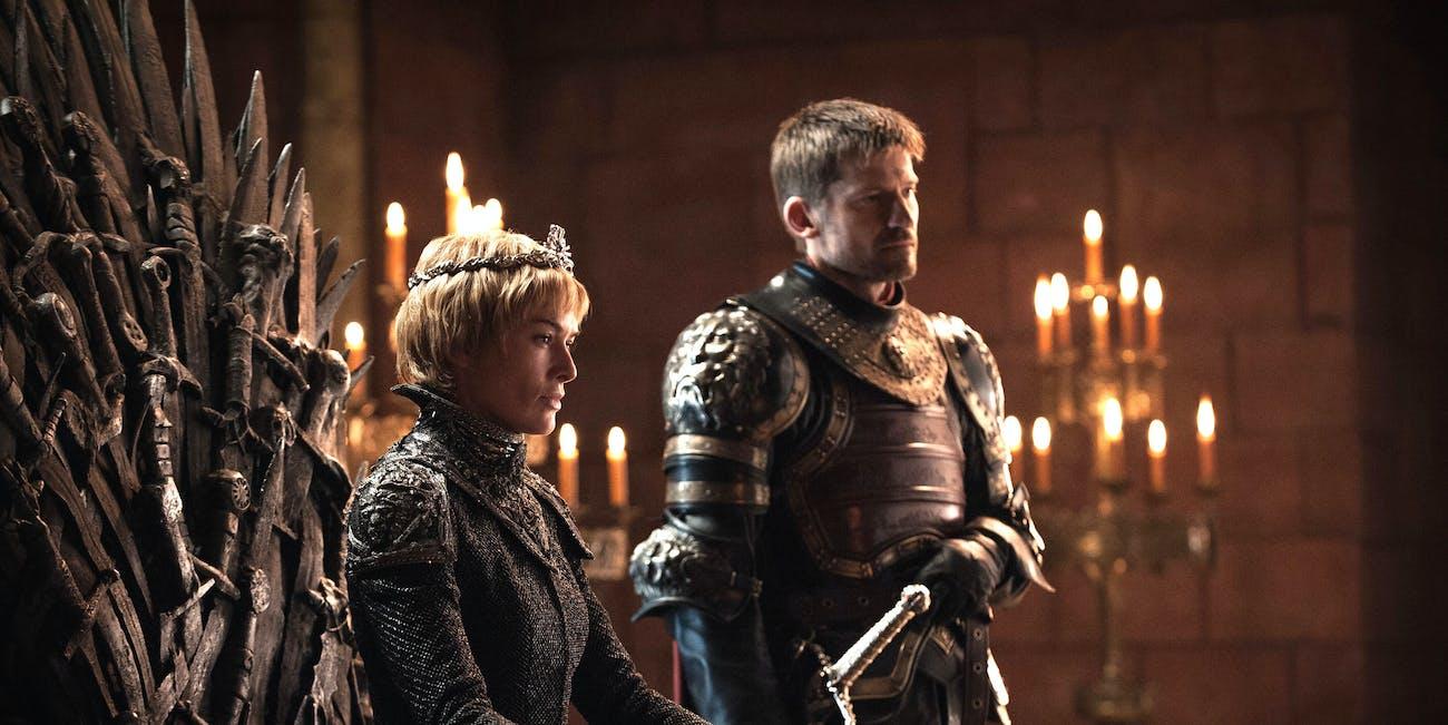 Lena Headey as Queen Cersei Lannister and Nikolaj Coster-Waldau as Jaime Lannister in 'Game of Thrones' Season 7