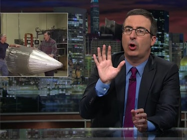 "John Oliver Slams Media Coverage of Trump's ""Mother of All Bombs"""