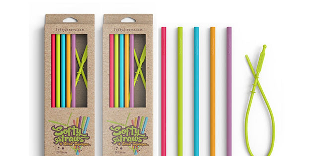 Softy Straws Assorted Silicone Reusable Straws | Inverse