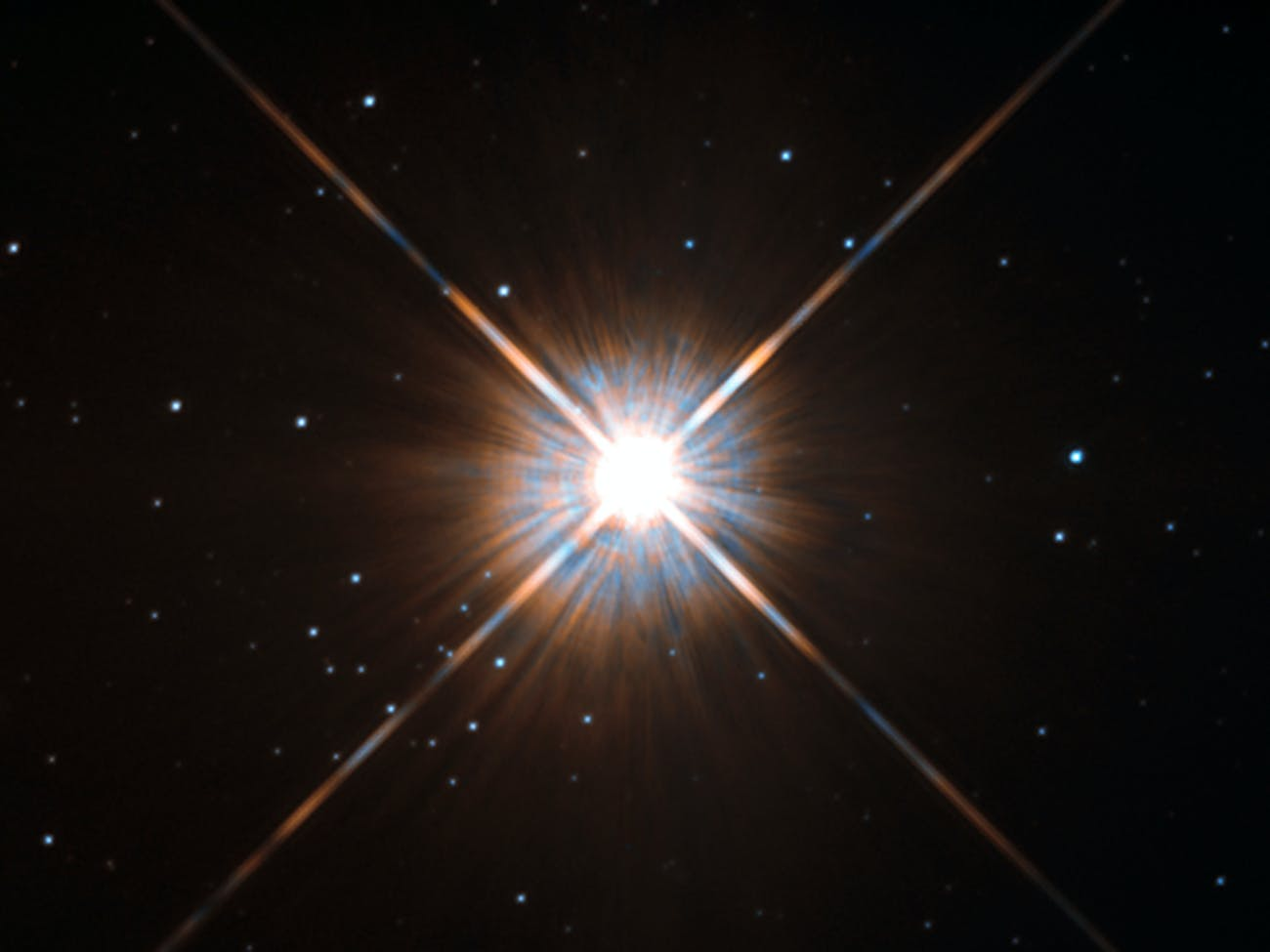 Proxima Centauri as seen by Hubble