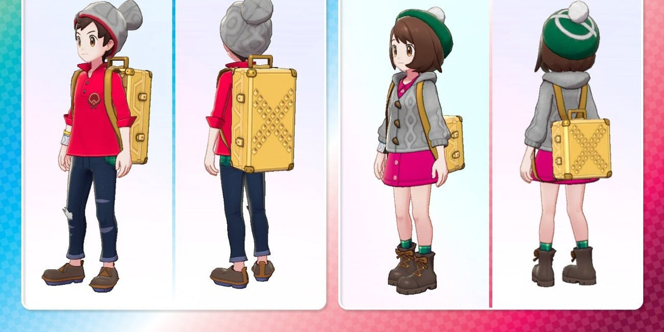 Pokemon Sword and Shield Gold Studded backpack