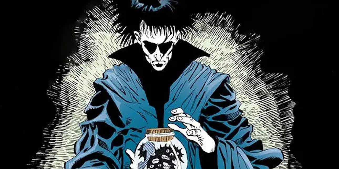 Still of Morpheus from Sandman Neil Gaiman comic