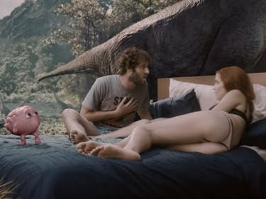 Lil Dicky's New Video Stars John C. Reilly and a CGI Brain