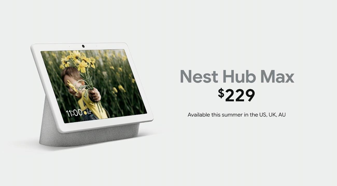 google nest hub max i/o