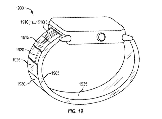"A figure included in a patent filing shows how Apple's ""active fluid"" tech might work."