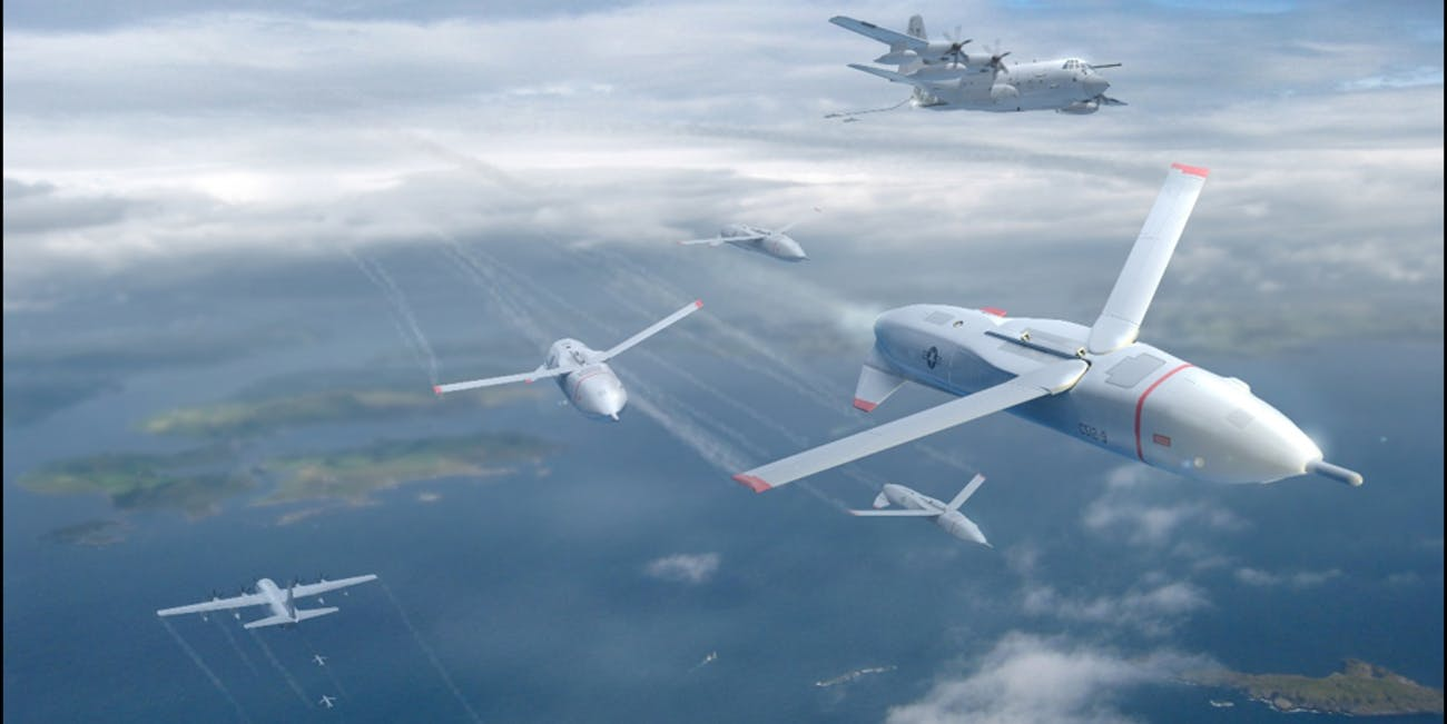 An artist's conception of the Gremlin drones.