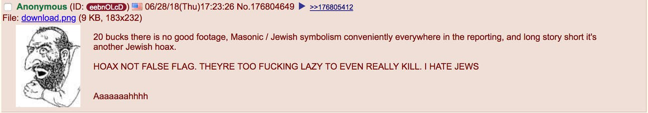 Jarrod Ramos Capital Gazette Annapolis shooting Antisemitism Jewish meme