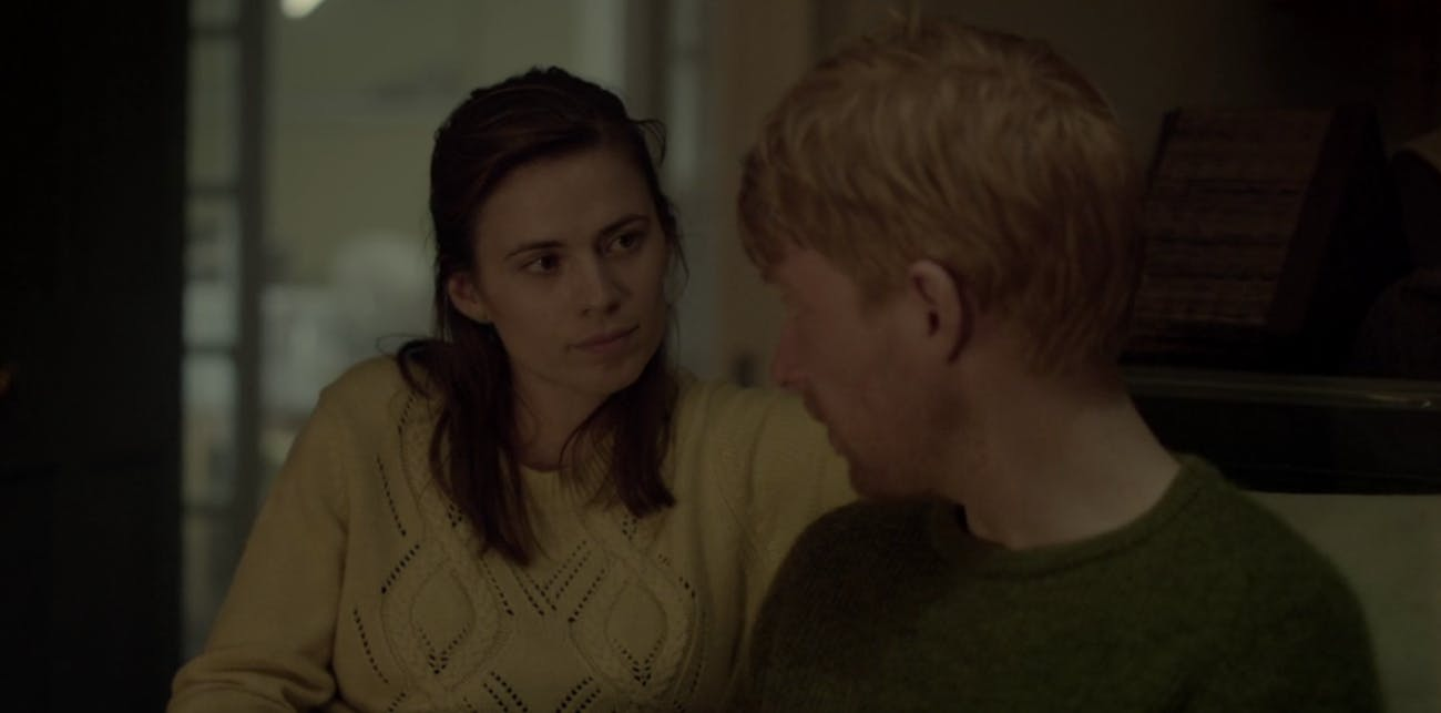 Haley Atwell and Domhnall Gleeson in 'Black Mirror'