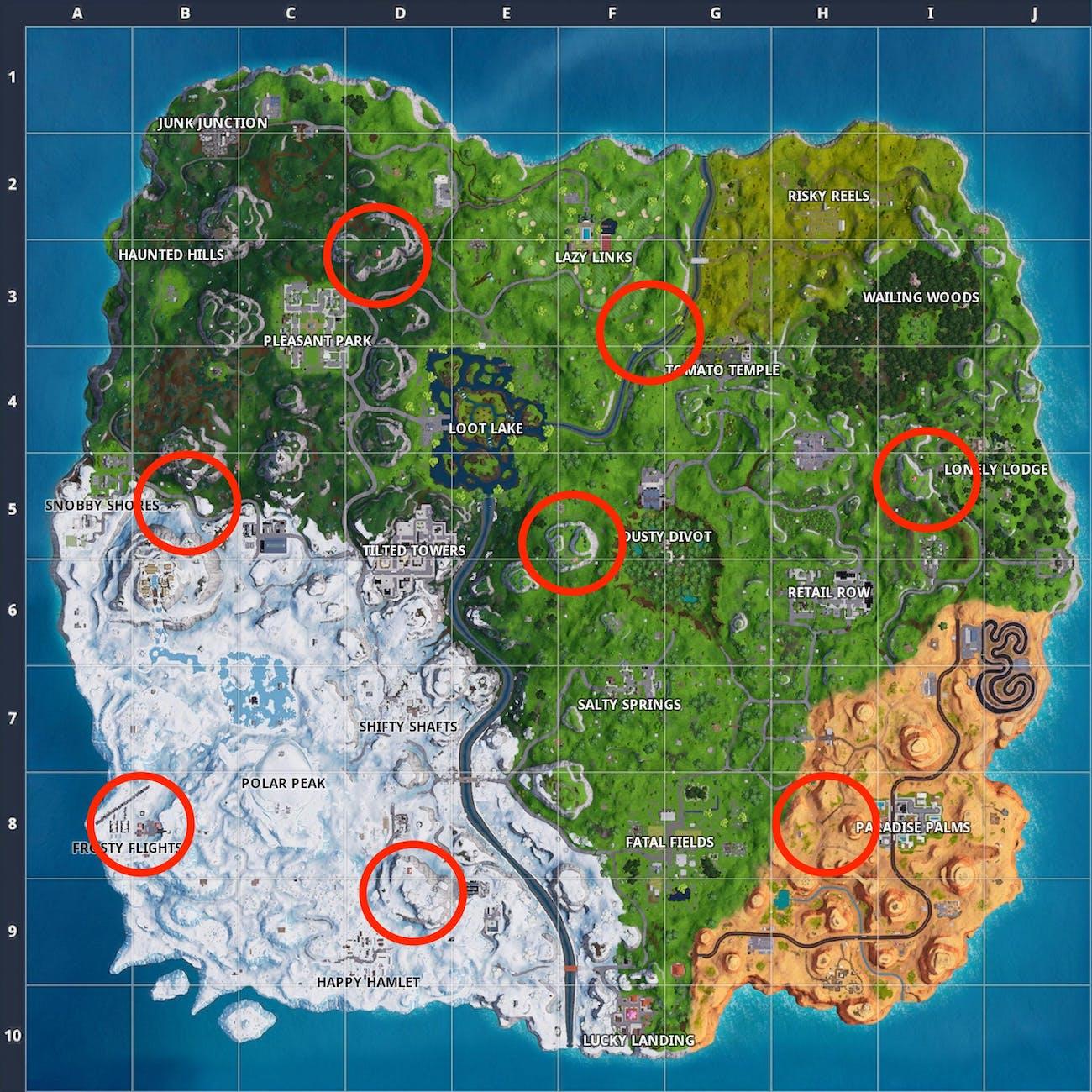 fortnite plane locations map