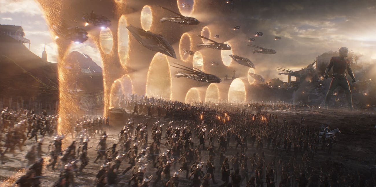 All of the Avengers assembling in 'Avengers: Endgame'