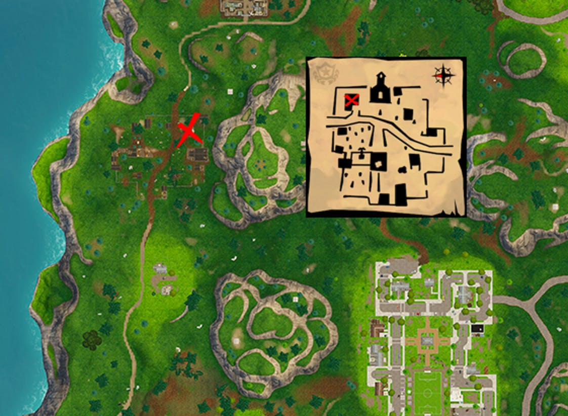 Fortnite' Snobby Ss Treasure Map Location: Check Out Our ... on grid reference, geographic information system, satellite imagery, global map, early world maps, geographic coordinate system, geographic feature, map projection, cartography of the united states, history of cartography,