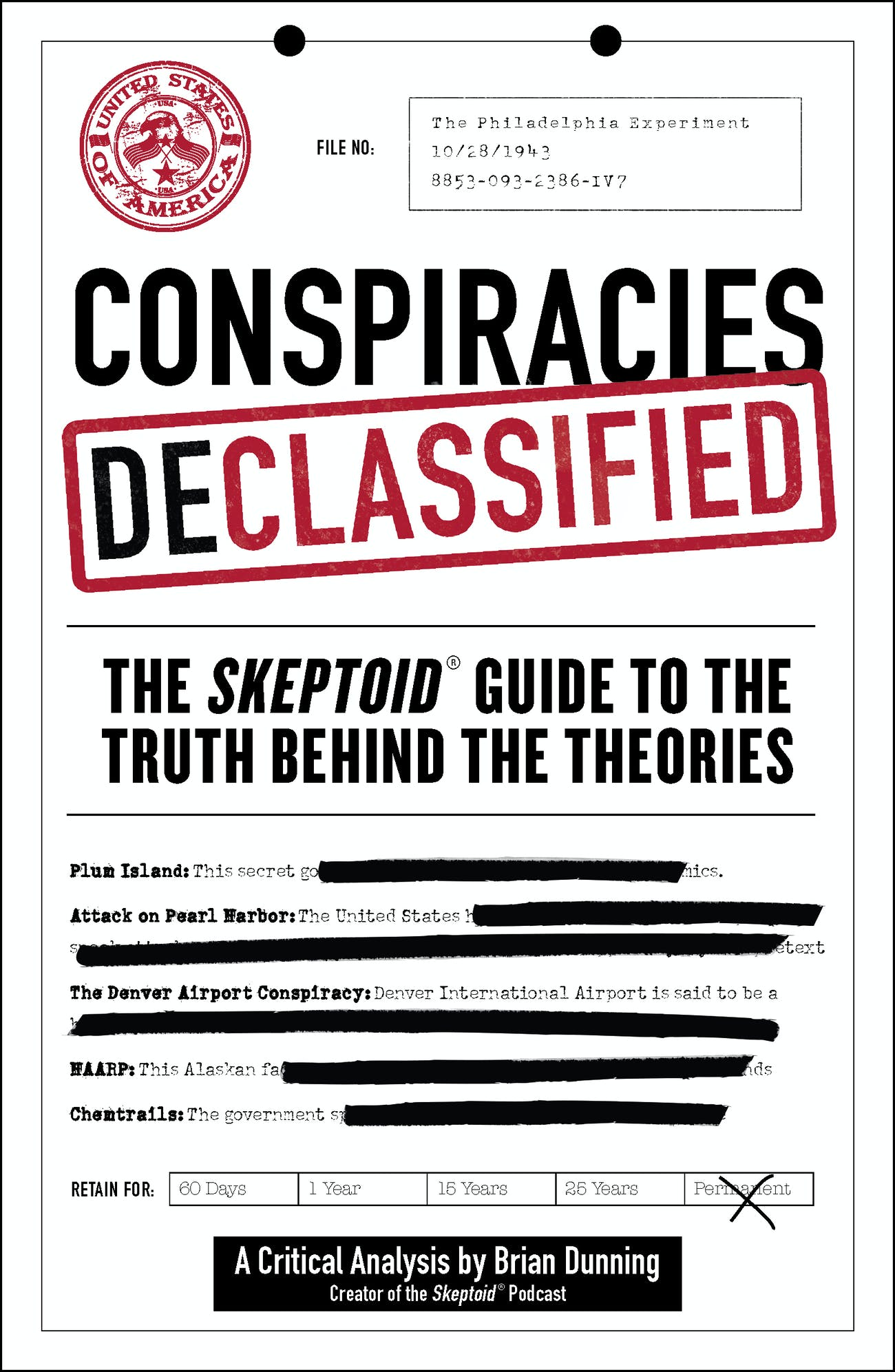 The cover of 'Conspiracies Declassified'