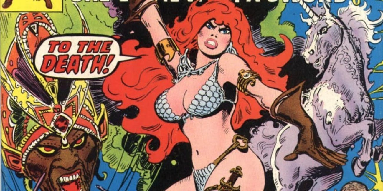 Early Red Sonja from Marvel Comics.