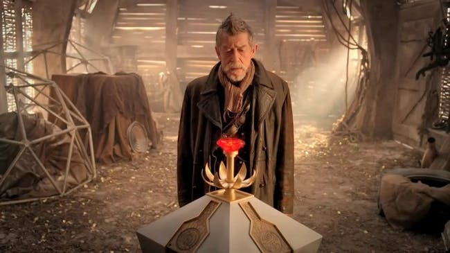 """John Hurt's War Doctor in """"The Day of the Doctor."""""""