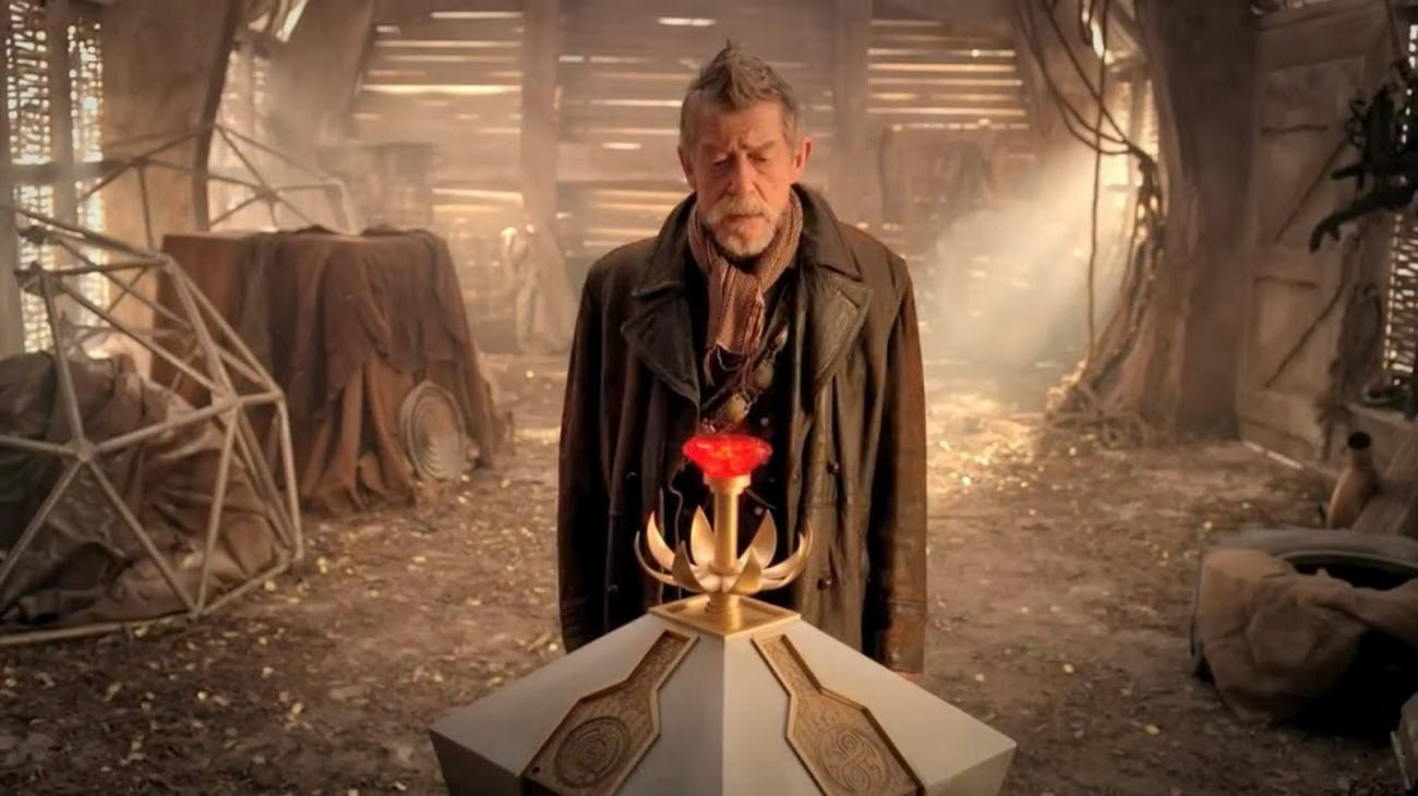 "John Hurt's War Doctor in ""The Day of the Doctor."""