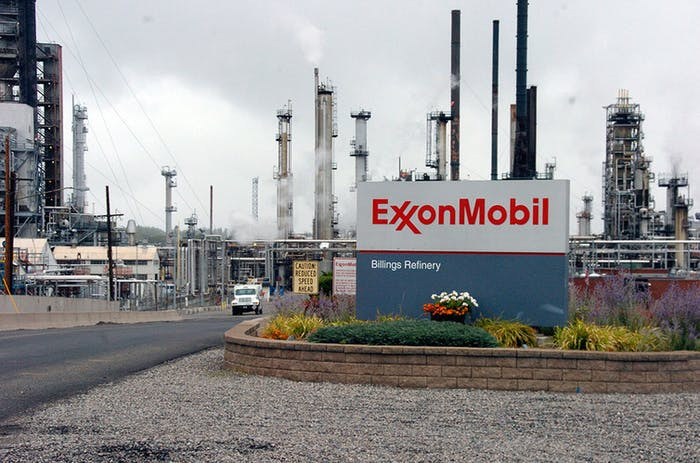 ExxonMobil's refinery in Billings, Montana.