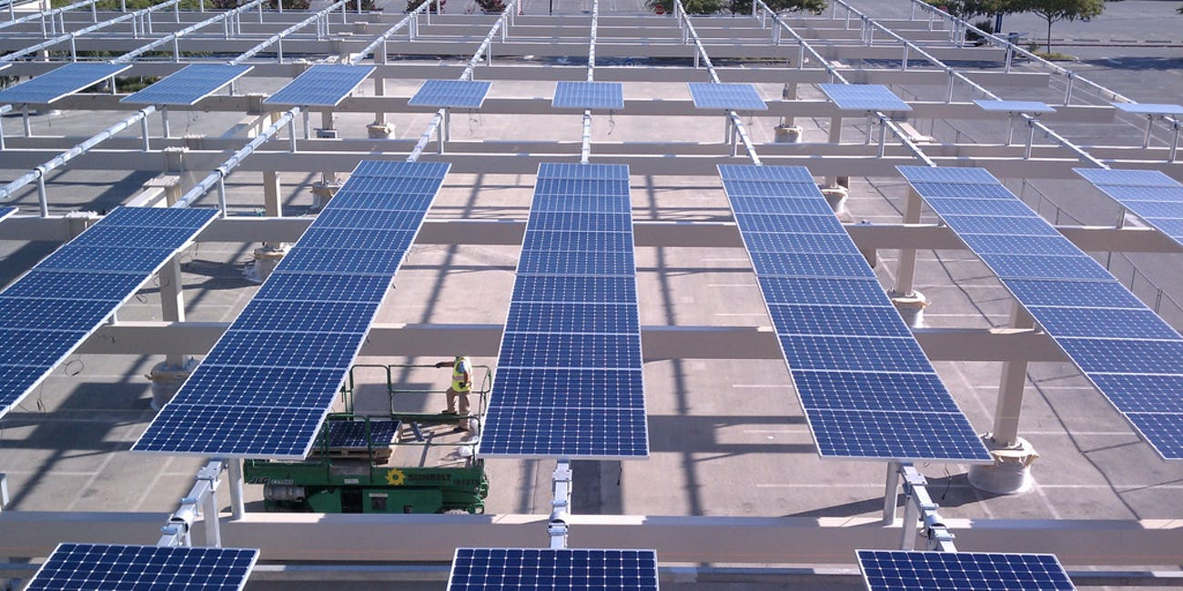 Solar array setup