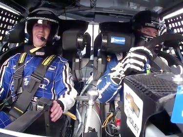 NASCAR Zuckerberg Panic Terror Freak Out Scared