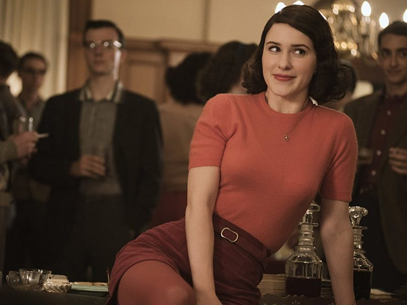 "Rachel Brosnahan as Miriam ""Midge"" Maisel in 'The Marvelous Mrs. Maisel'."
