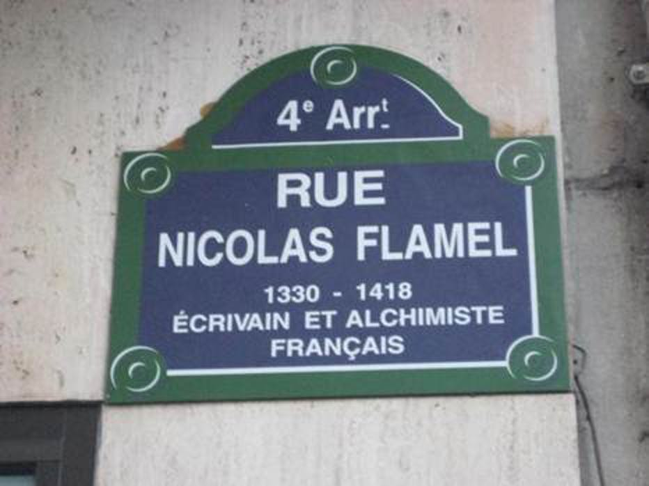 A street in Paris named after Flamel.