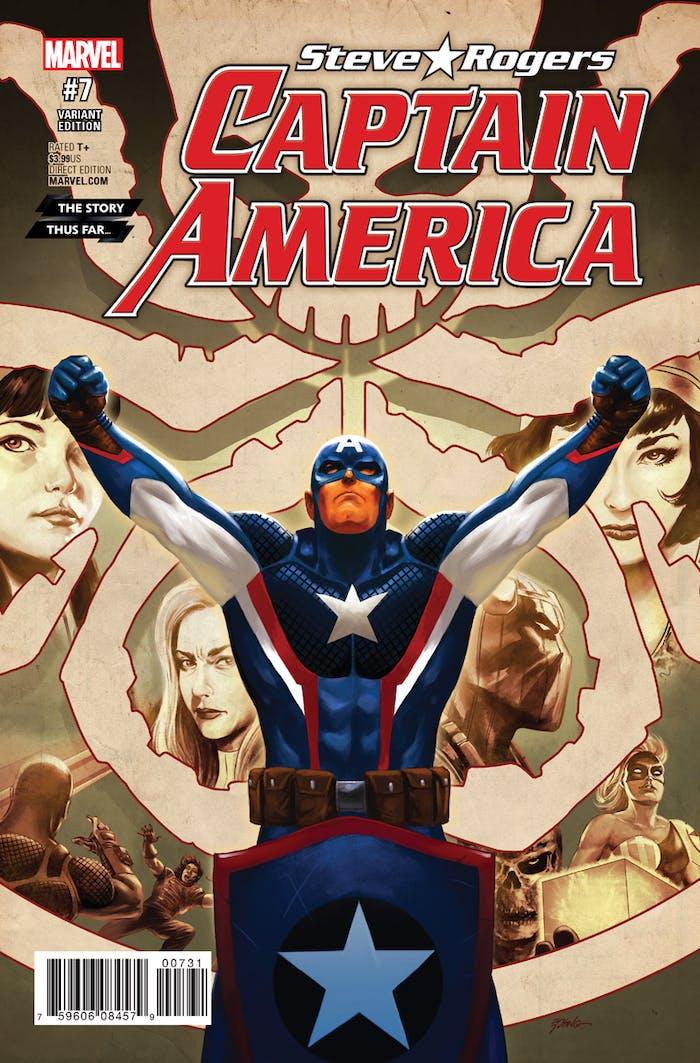 Variant Cover for Stever Rogers Captain America #7