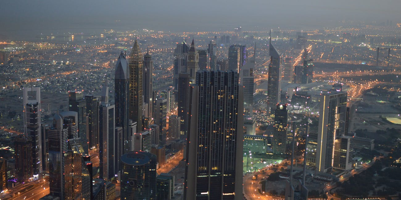 Dubai Skyscrapers, Dawn