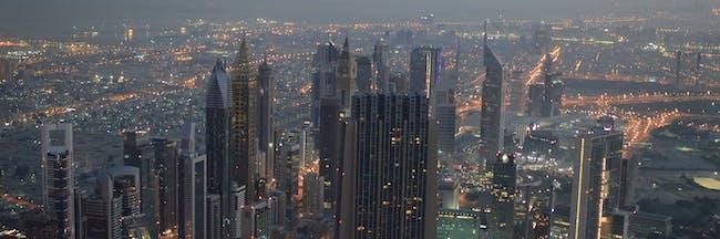Dubai Skyscrapers, Dawn