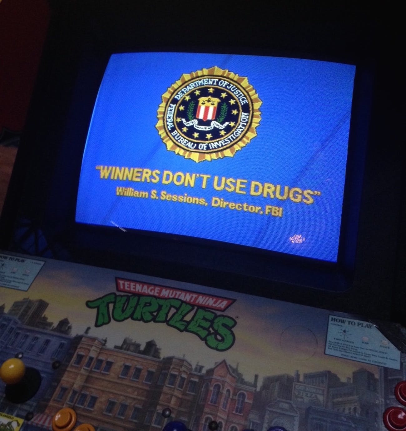 how the f b i made winners don t use drugs the arcade motto of