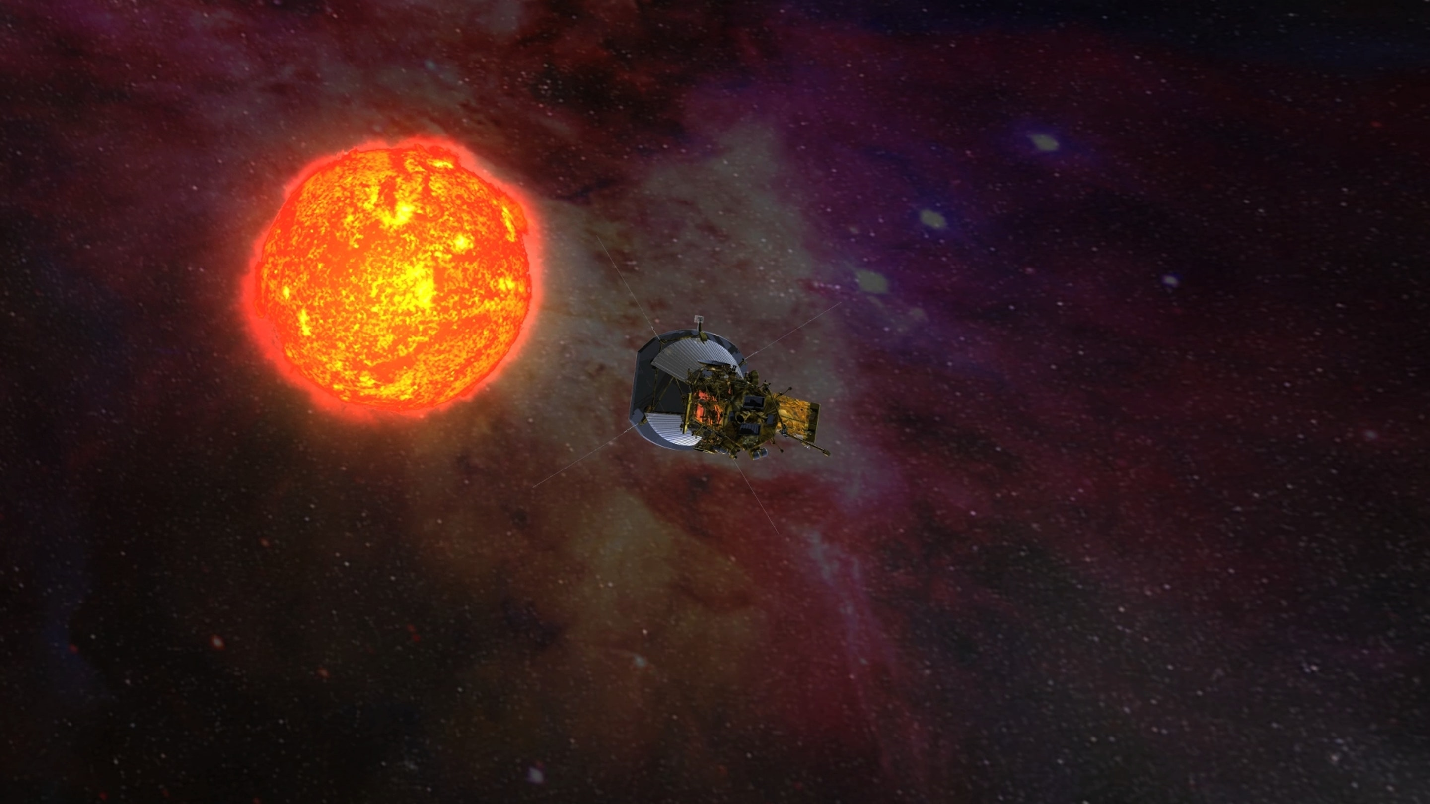 Artist's depiction of SPP nearing the sun.