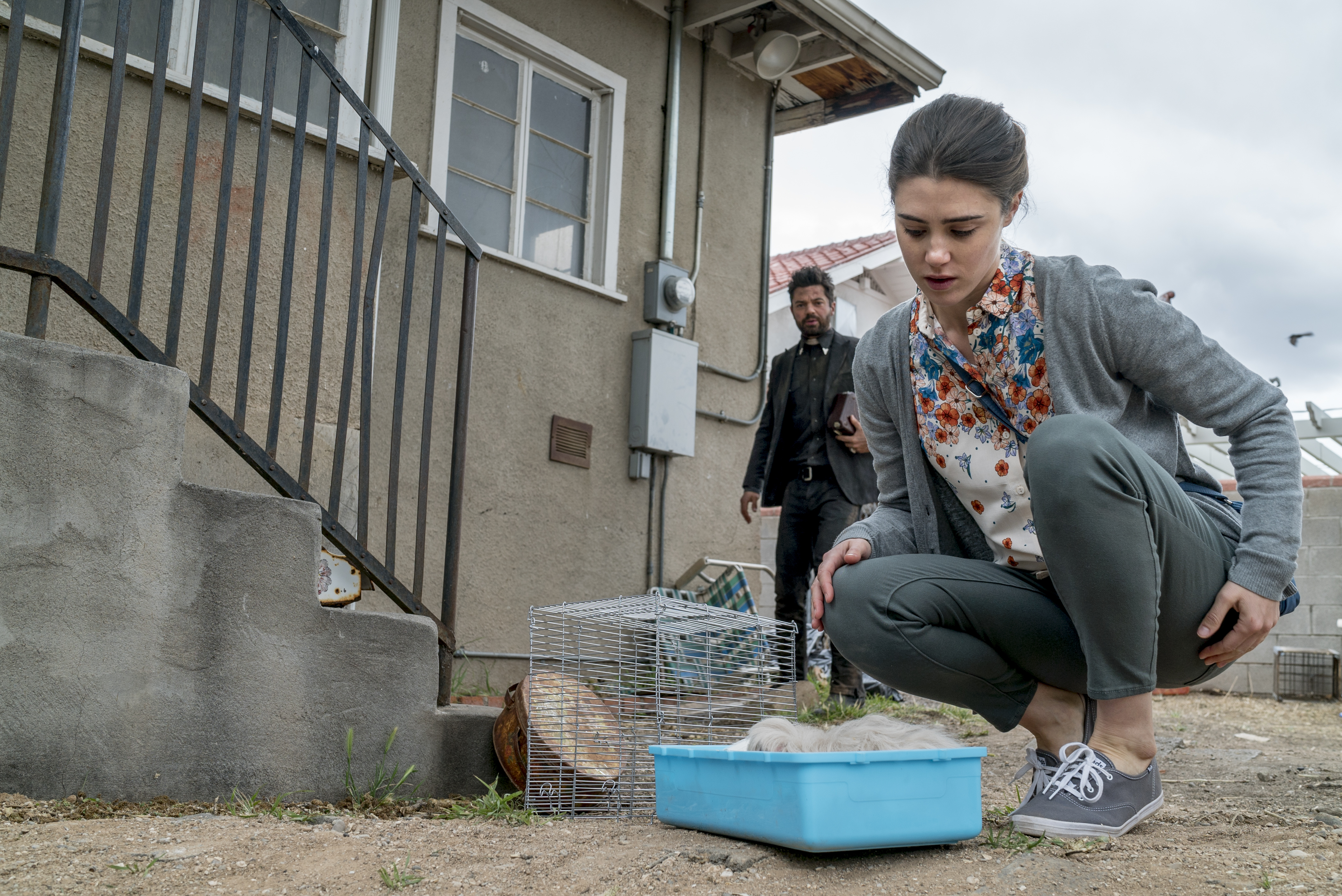"Emily, just after the deed, in the episode ""Finish the Song"" in 'Preacher.'"