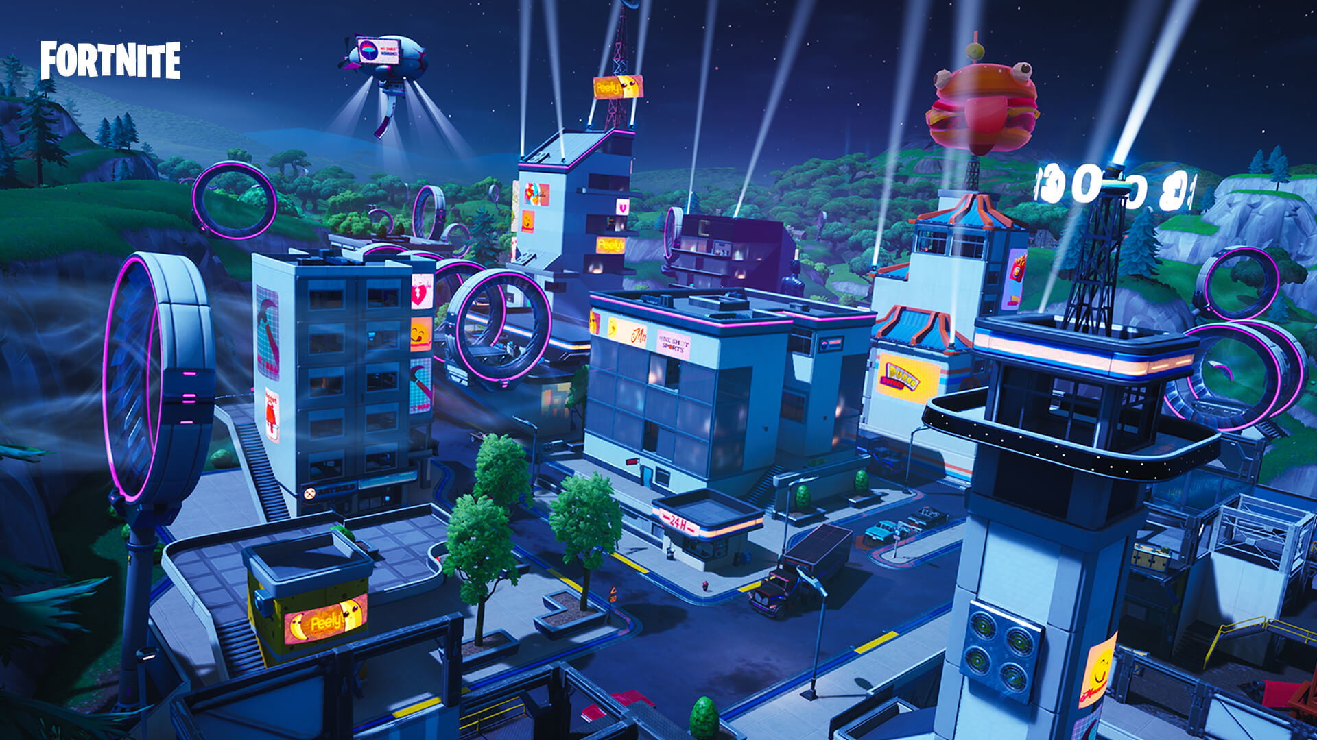 Fortnite Season 9 Map Guide Neo Tilted Mega Mall Pressure Plant