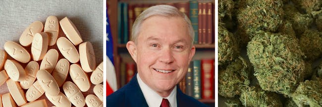 Jeff Sessions thinks marijuana and heroin are similar in levels of danger.