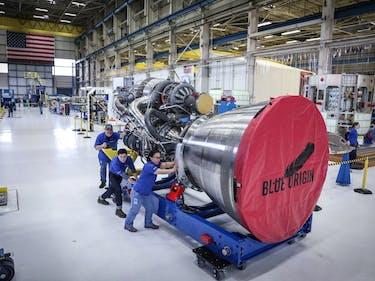 Jeff Bezos Reveals Blue Origin's Finished Rocket BE-4 Engine
