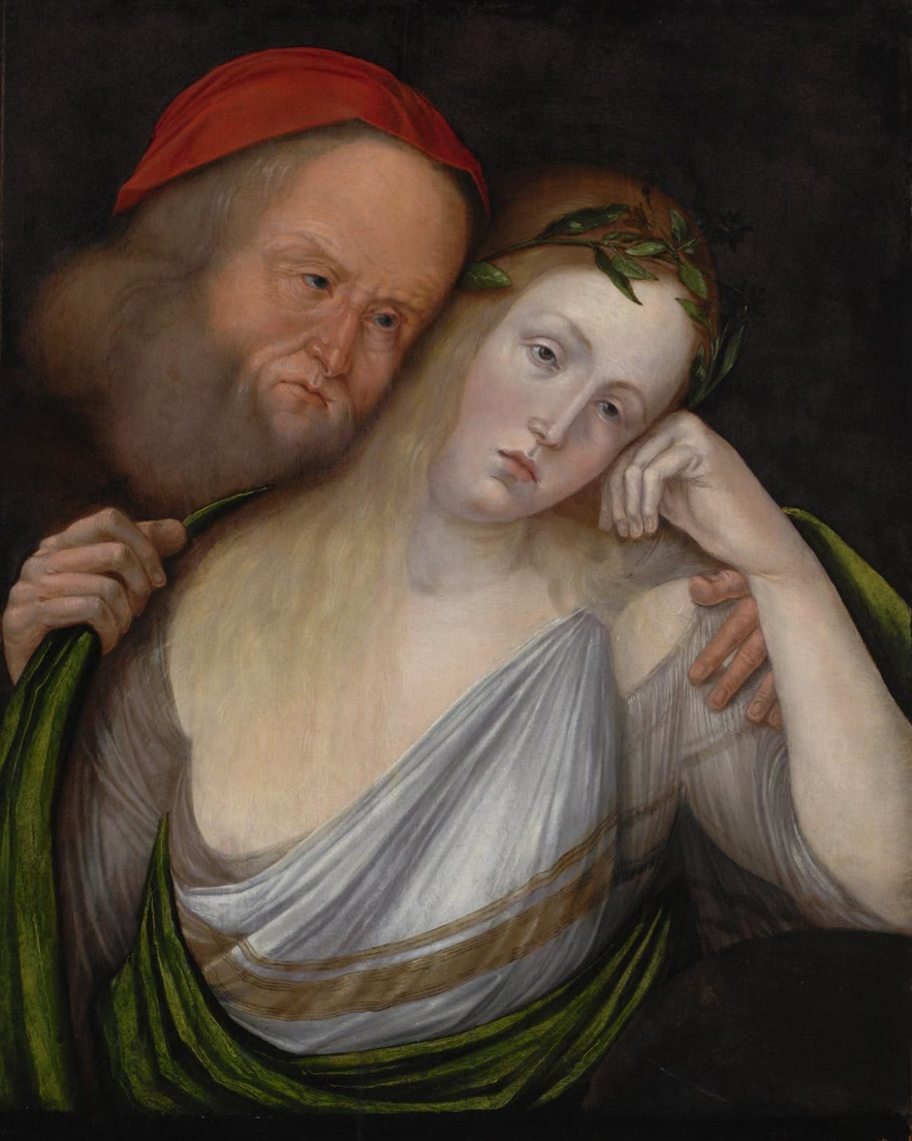 A 1503 painting of an old man and young woman.