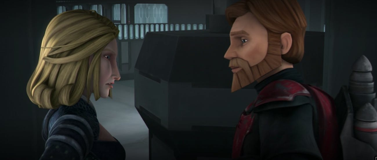 Obi-Wan rocking a jetpack in 'The Clone Wars.' (Guess who he borrowed it from?)